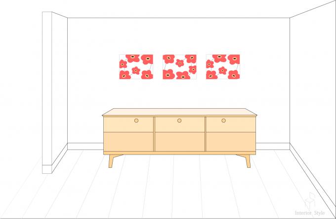 手作りのファブリックボードの飾り方