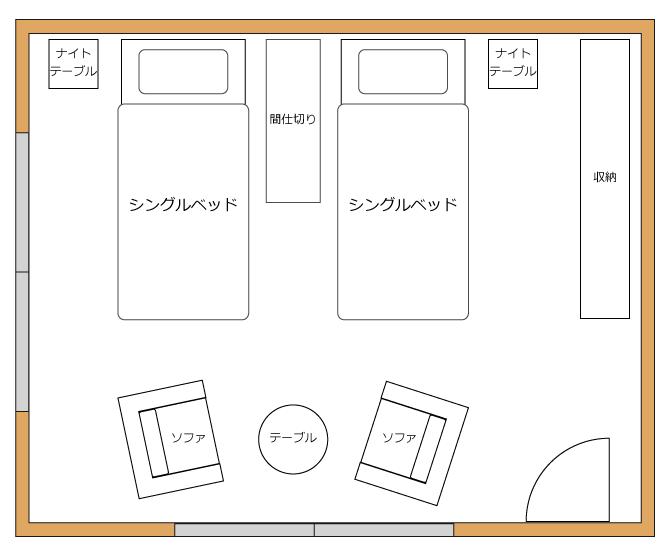 10畳の寝室のレイアウト