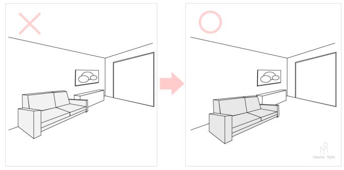 ソファを美しく見せるテクニック