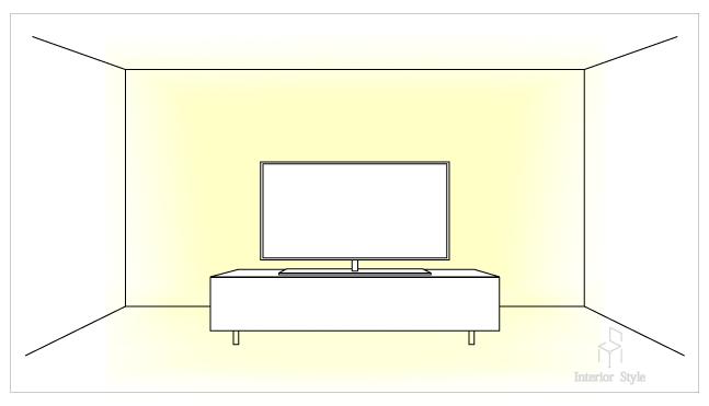 テレビ台を使った間接照明のテクニック