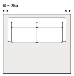 リビングソファのラグのサイズ