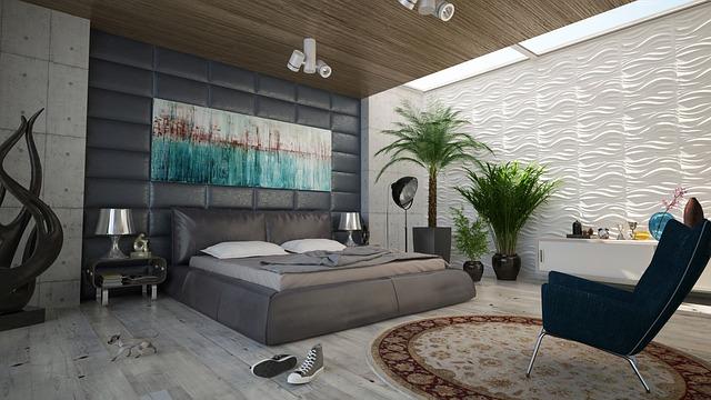 寝室の天井の照明