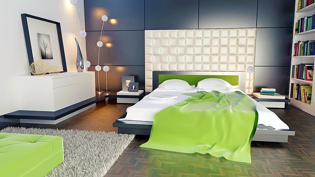 寝室のおしゃれなフロアライト
