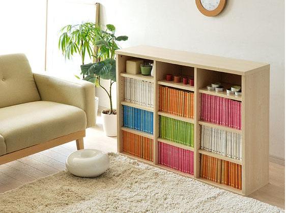 オープン型の本の収納棚