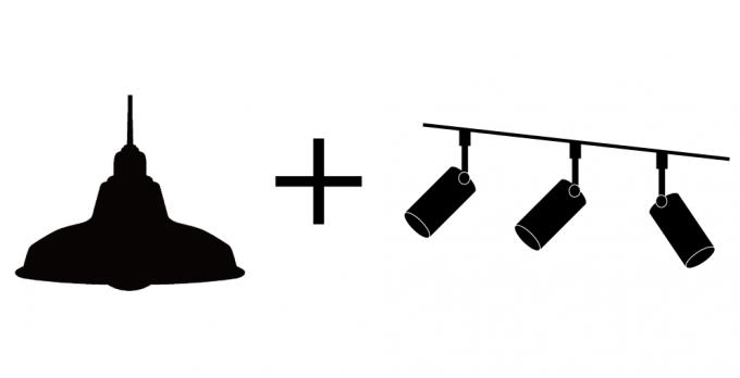 ダイニングの照明の組み合わせ3