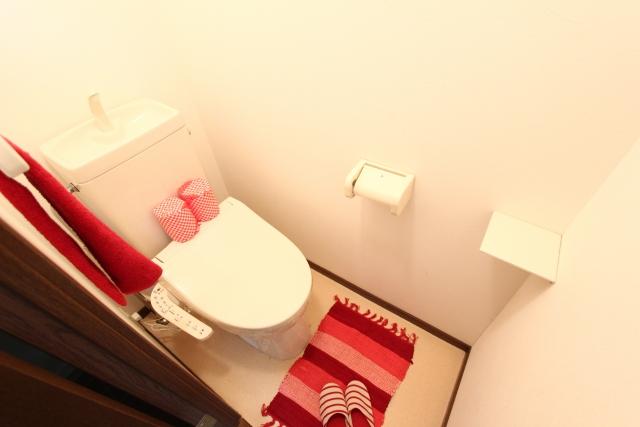 トイレの布モノの色