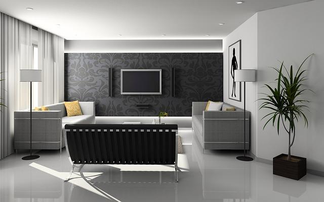 モダンな部屋に置く家具の形状