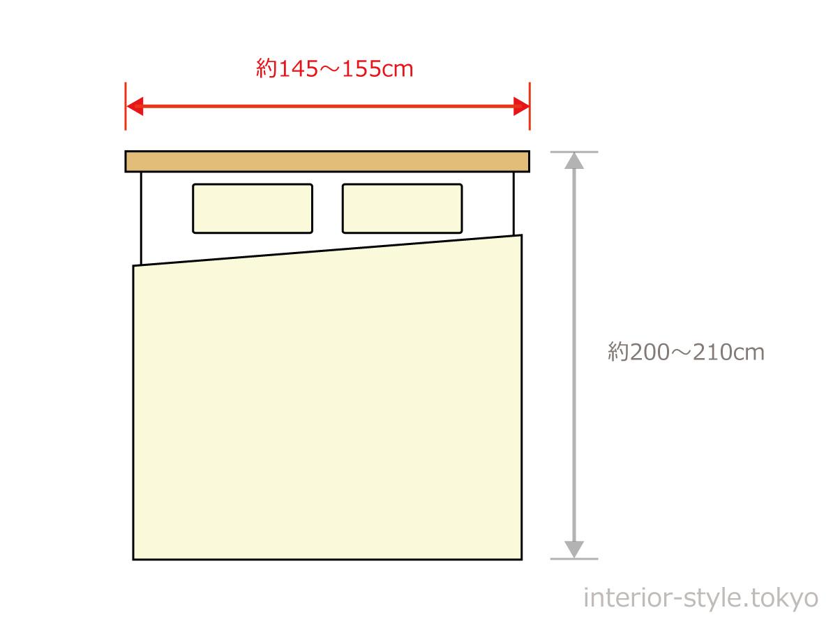 クイーンサイズベッドの寸法
