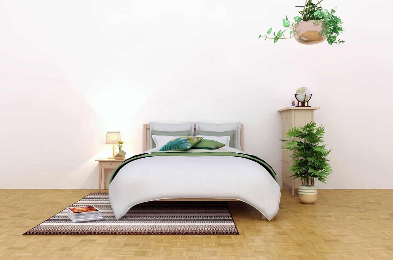寝室の家具配置の例
