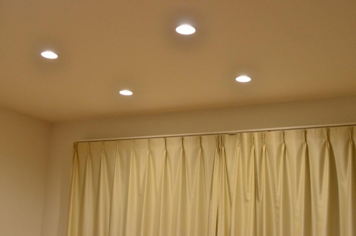 ダウンライトの光の広がり方