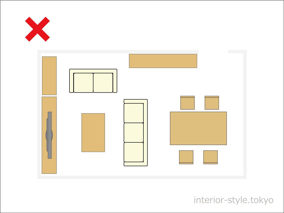 不要な家具が多い部屋