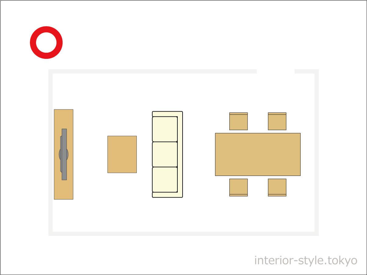 不要な家具が少ない部屋