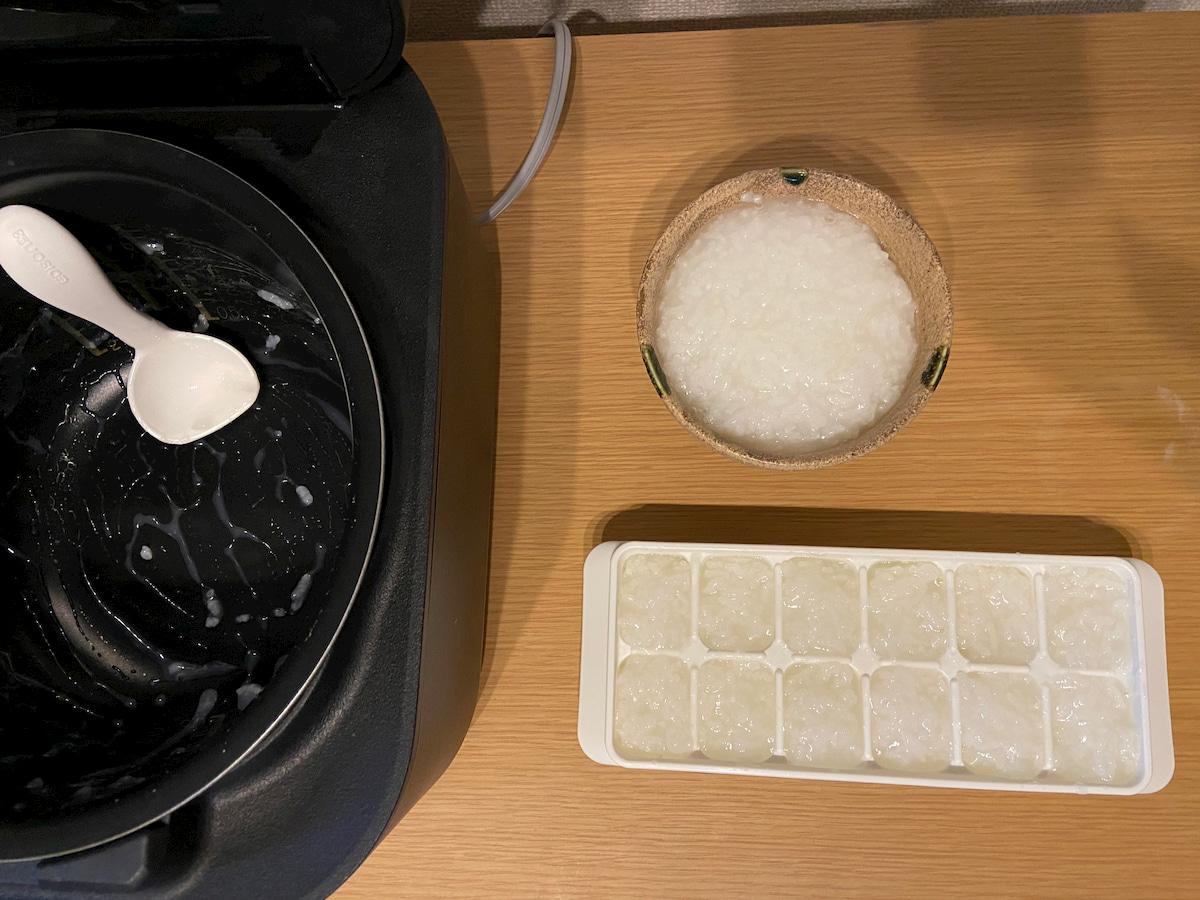 1回の炊飯で作れるおかゆの量